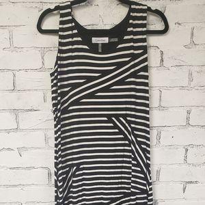 Calvin Klein Maxi Dress Slinky Material Size Mediu